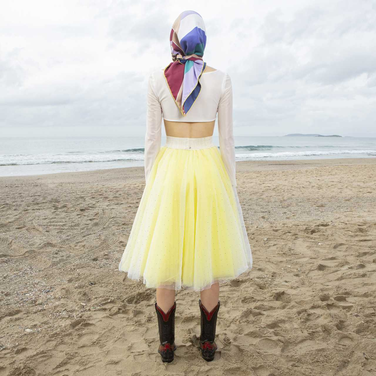 Product preview: Tulle Tutu Skirt Midi Yellow with Rhinestone