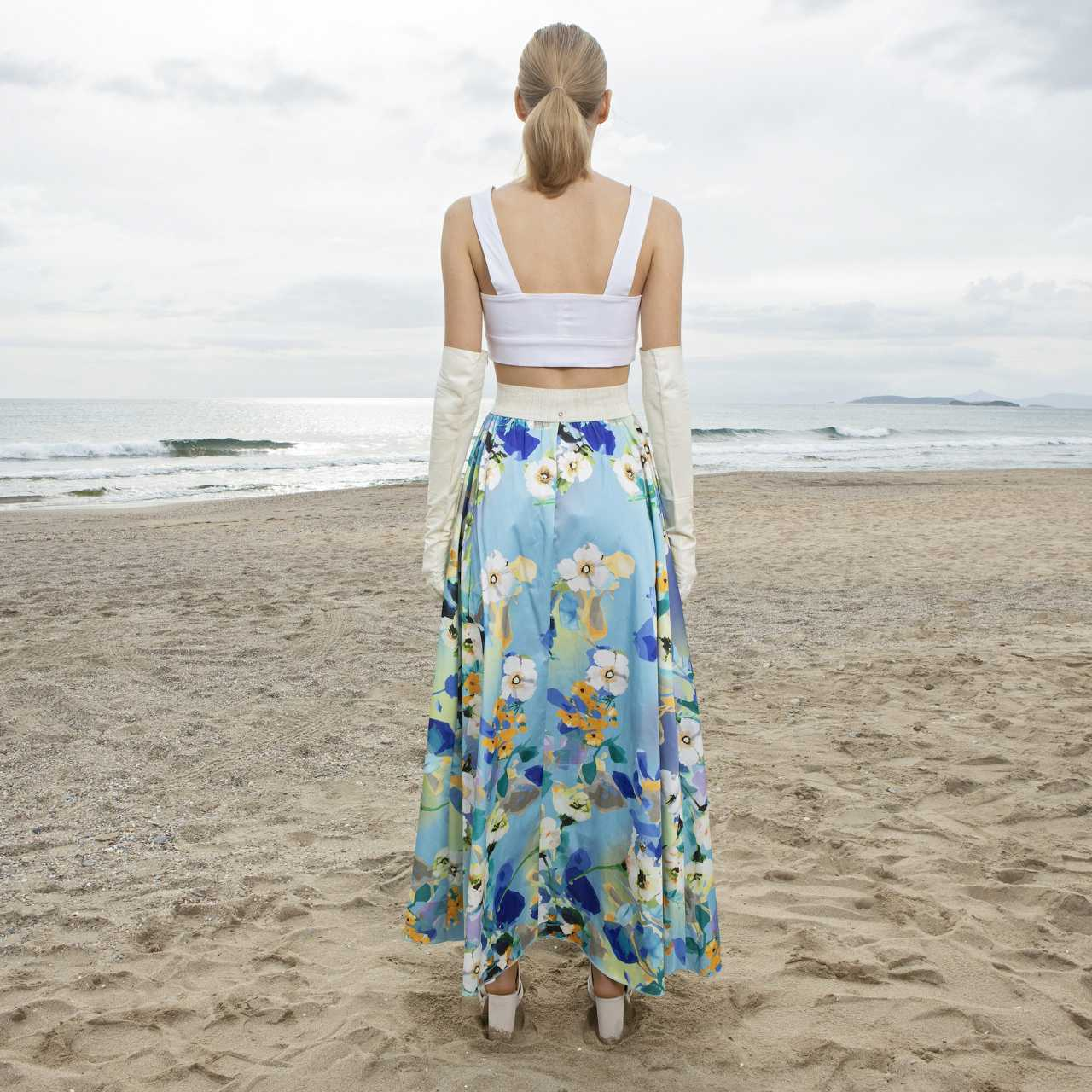 Product preview: Tulle Tutu Skirt Maxi Patterned Shades of Blue Skirt