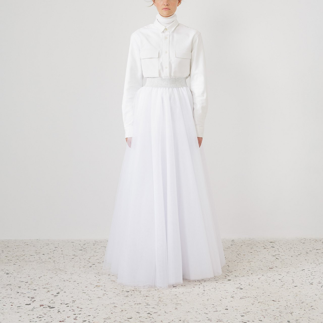 Product preview: Tulle Tutu Skirt White Maxi