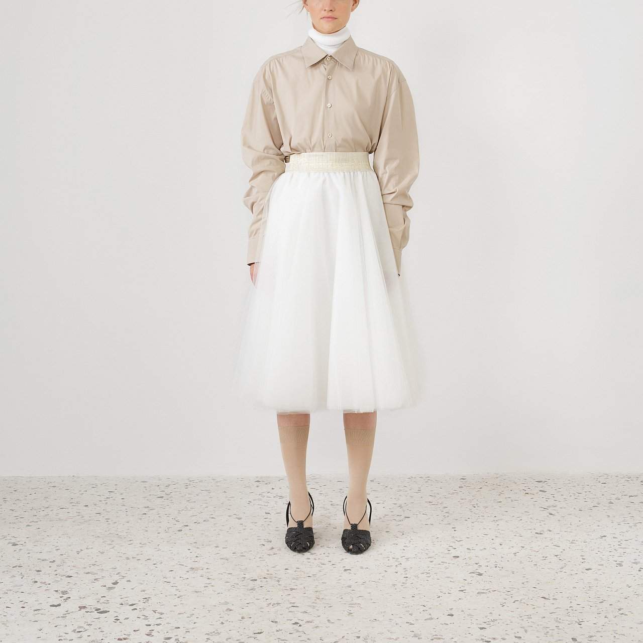 Product preview: Tulle Tutu Skirt Ivory Midi