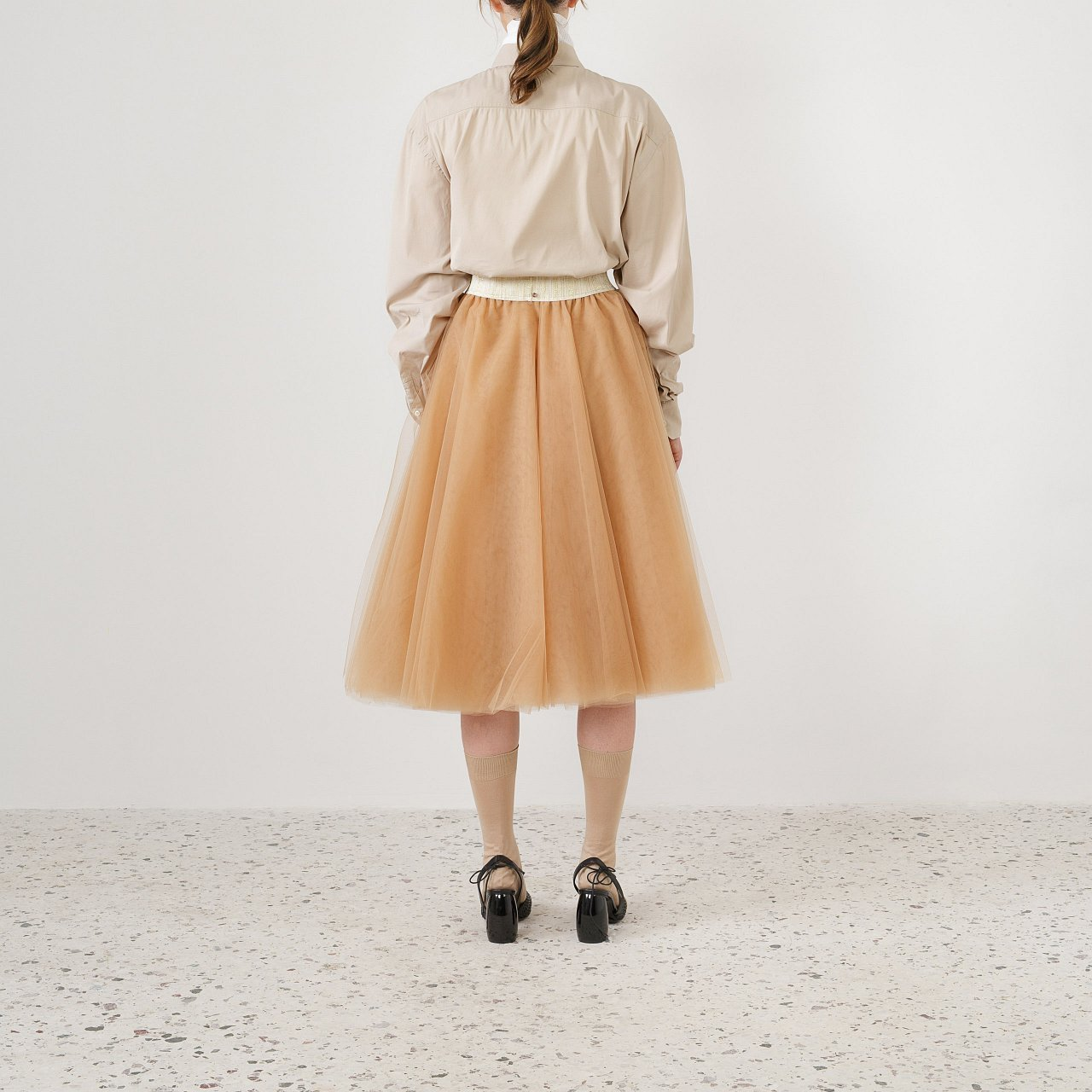 Product preview: Tulle Tutu Skirt Caramel Midi