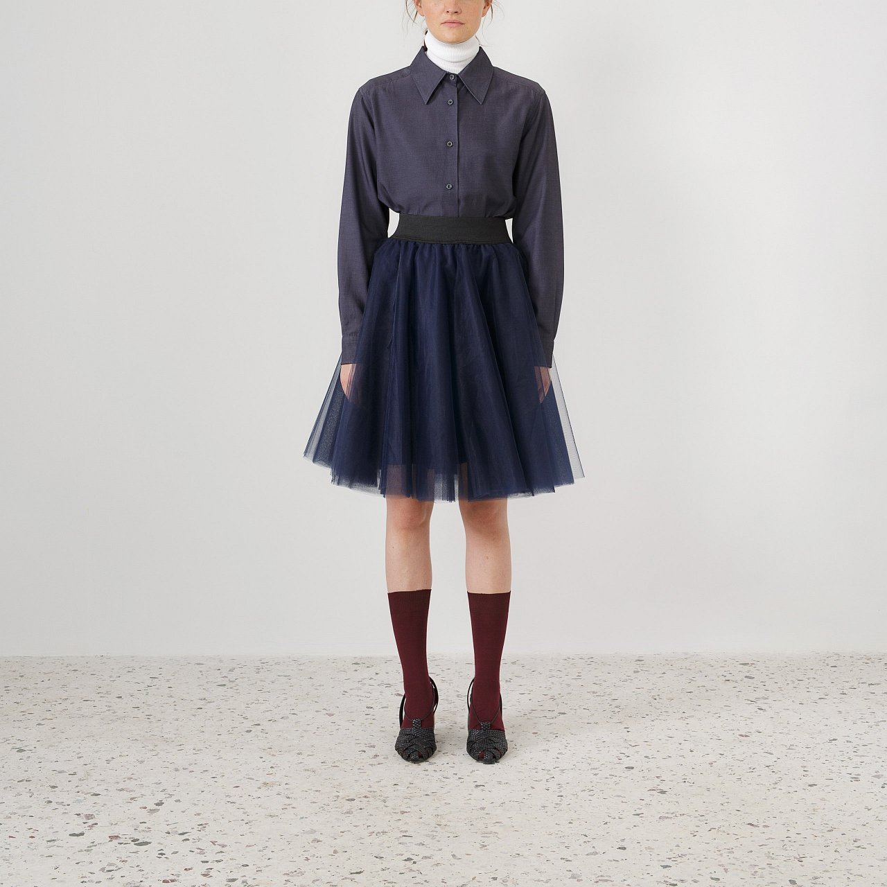 Product preview: Tulle Tutu Skirt Navy Blue Short