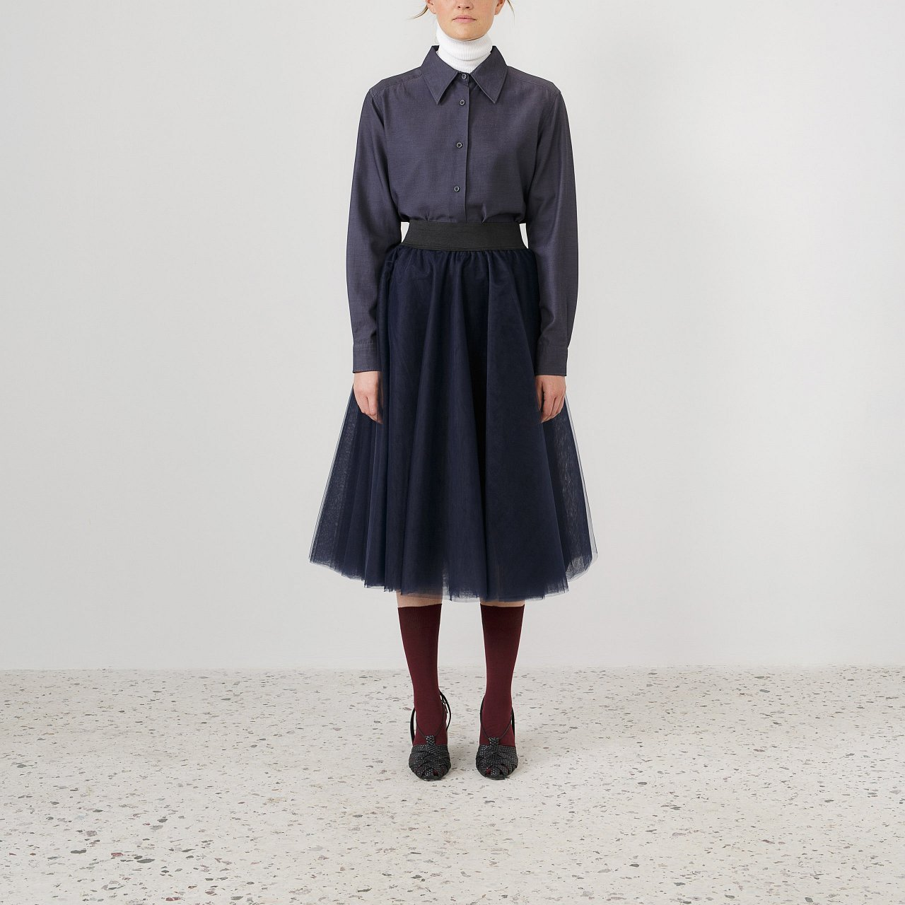 Product preview: Tulle Tutu Skirt Navy Blue Midi