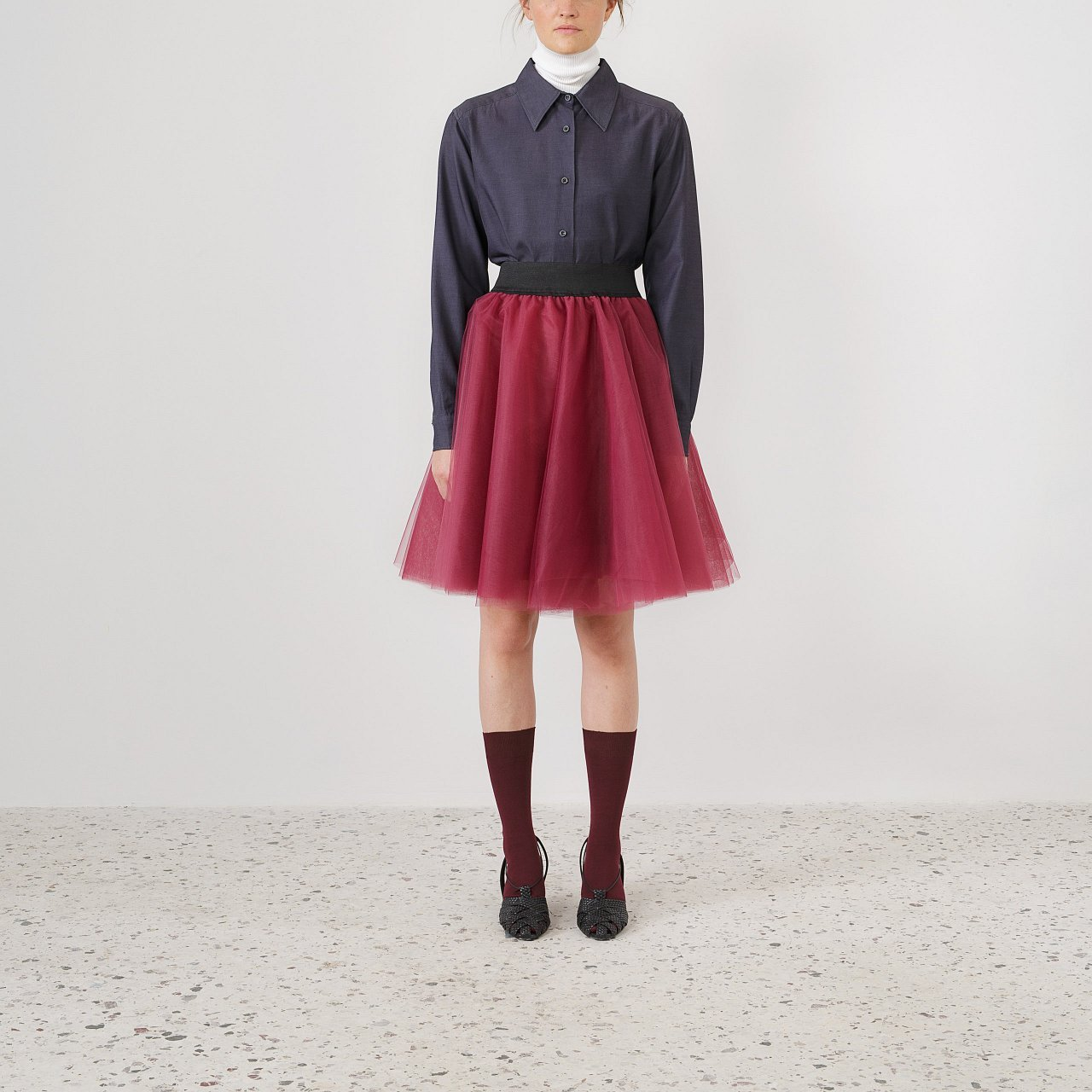 Product preview: Tulle Tutu Skirt Plum Short