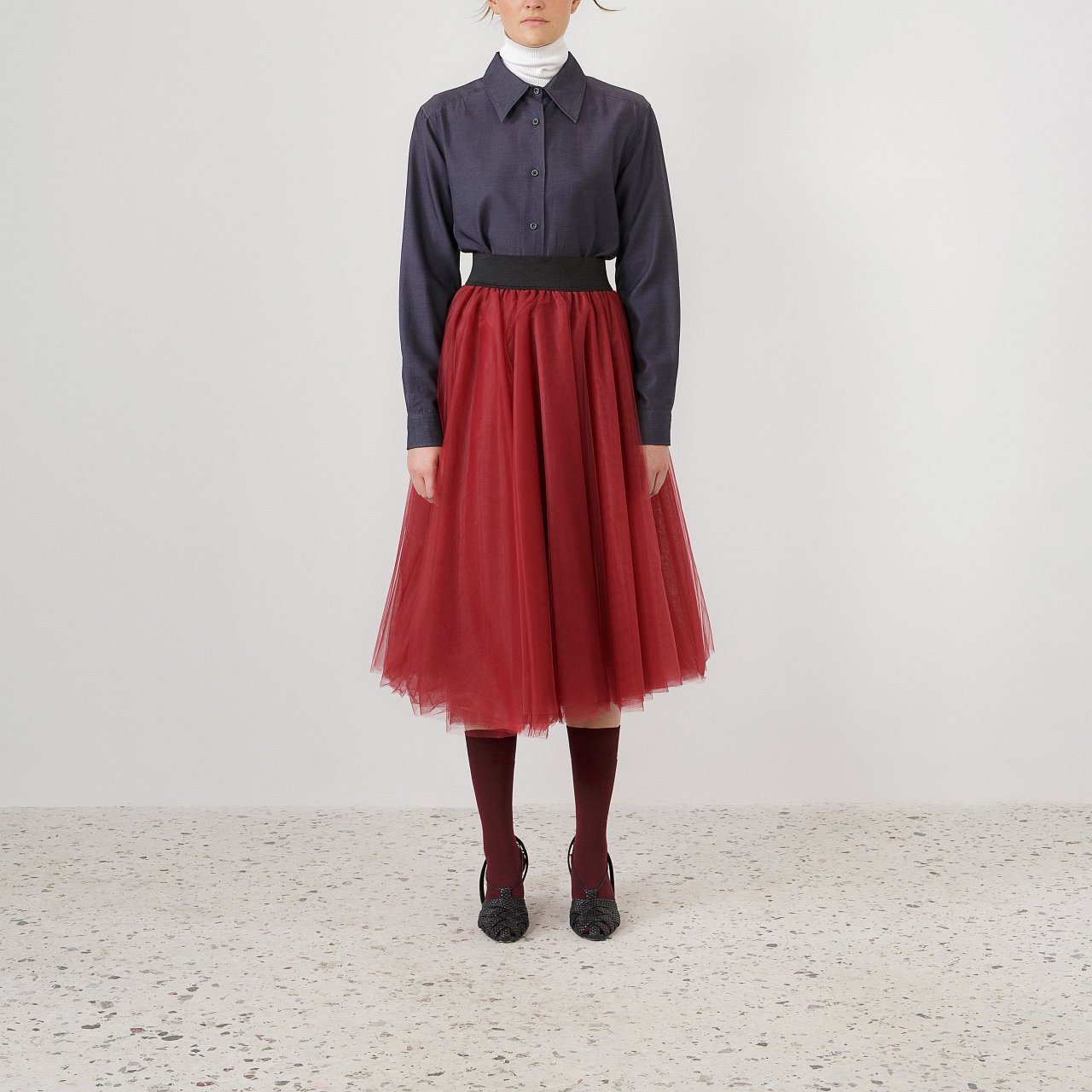 Product preview: Tulle Tutu Skirt Burgundy Midi