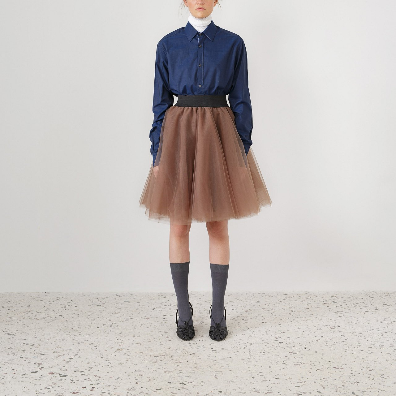 Product preview: Tulle Tutu Skirt Brown Short