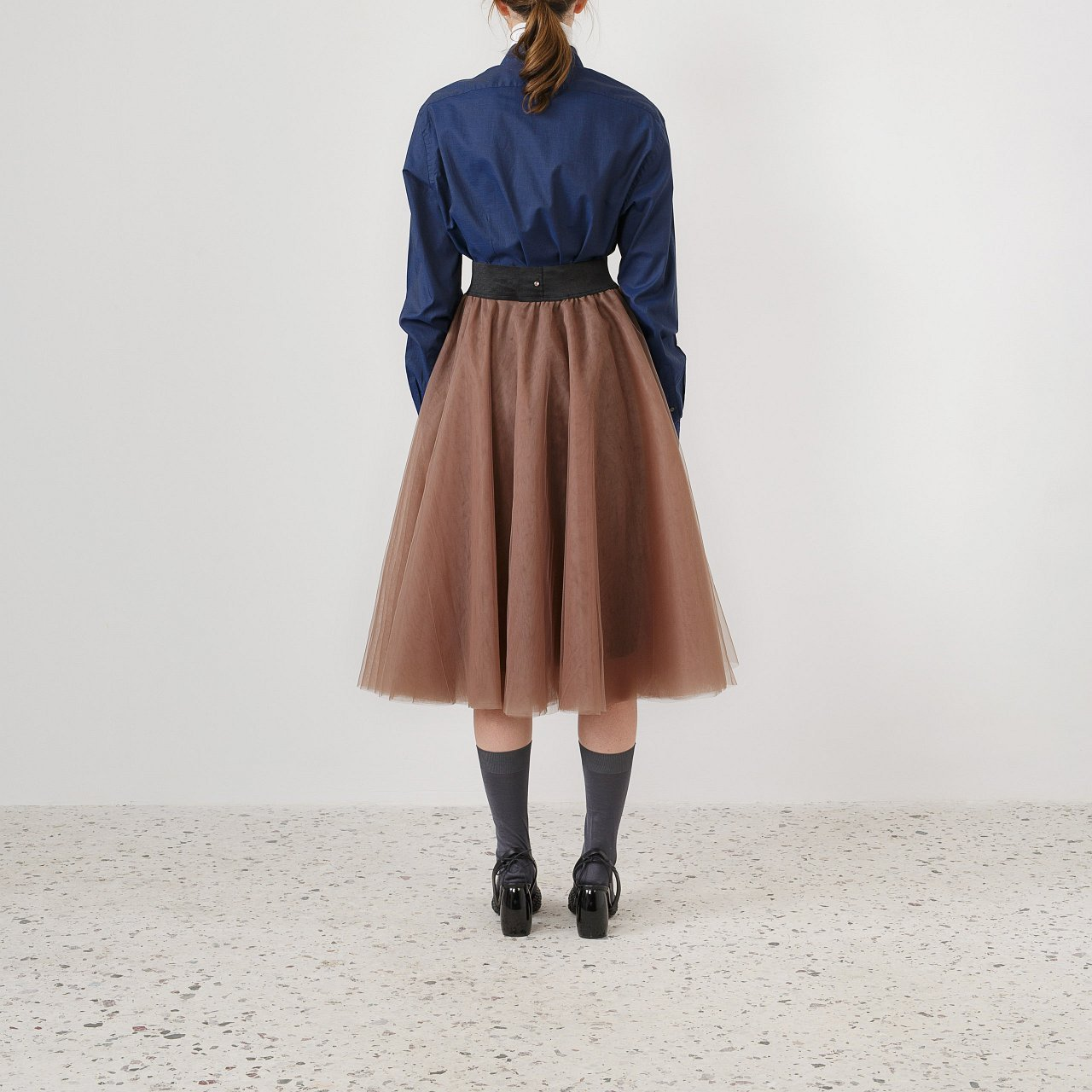 Product preview: Tulle Tutu Skirt Brown Midi
