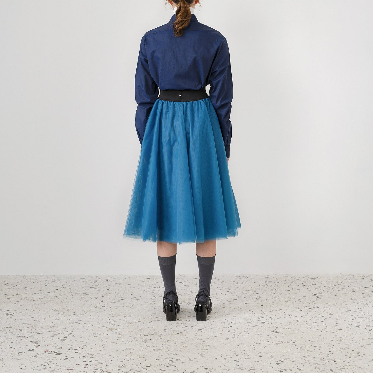 Product preview: Tulle Tutu Skirt Blue Green Midi