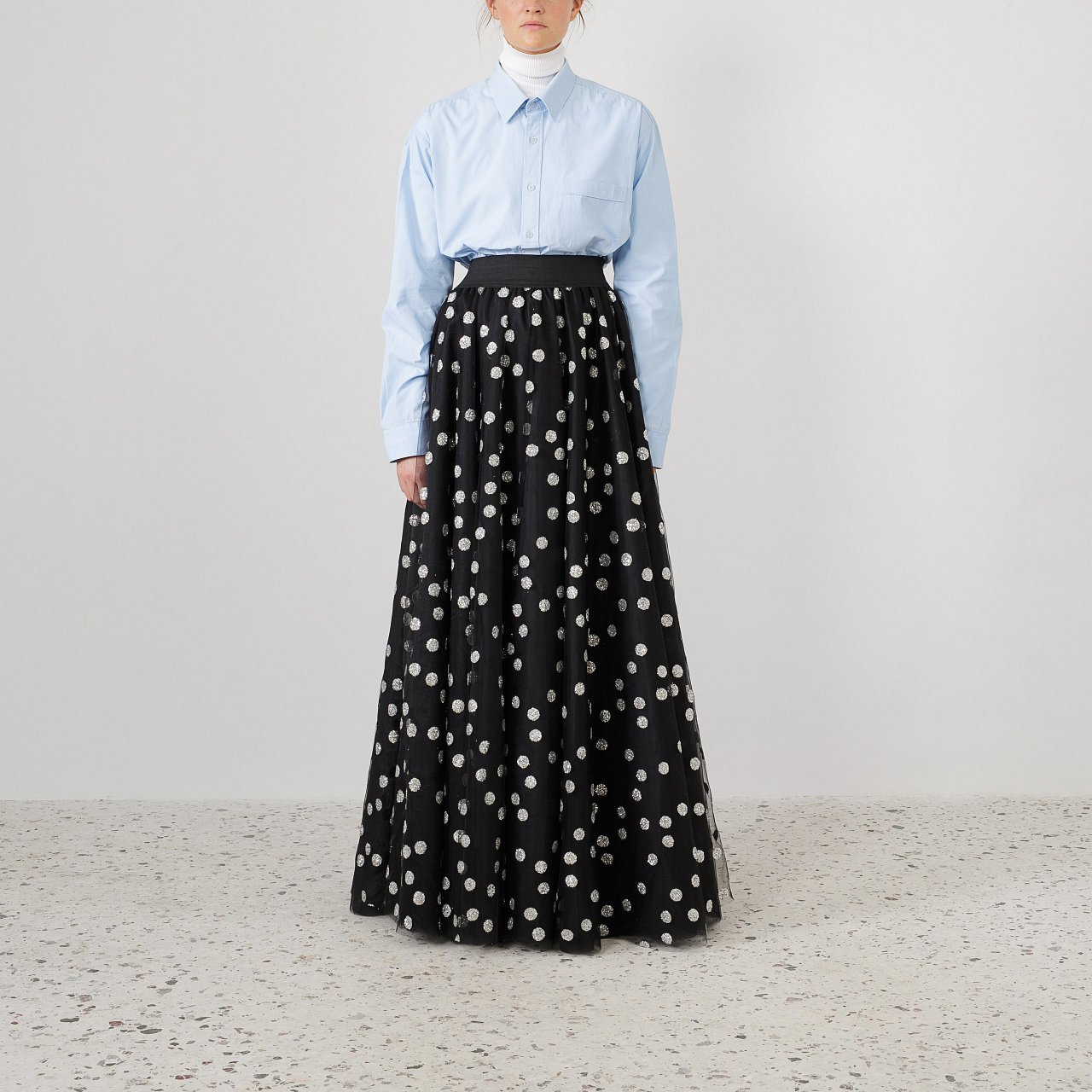 Product preview: Tulle Tutu Skirt Black Glitter Polka Maxi